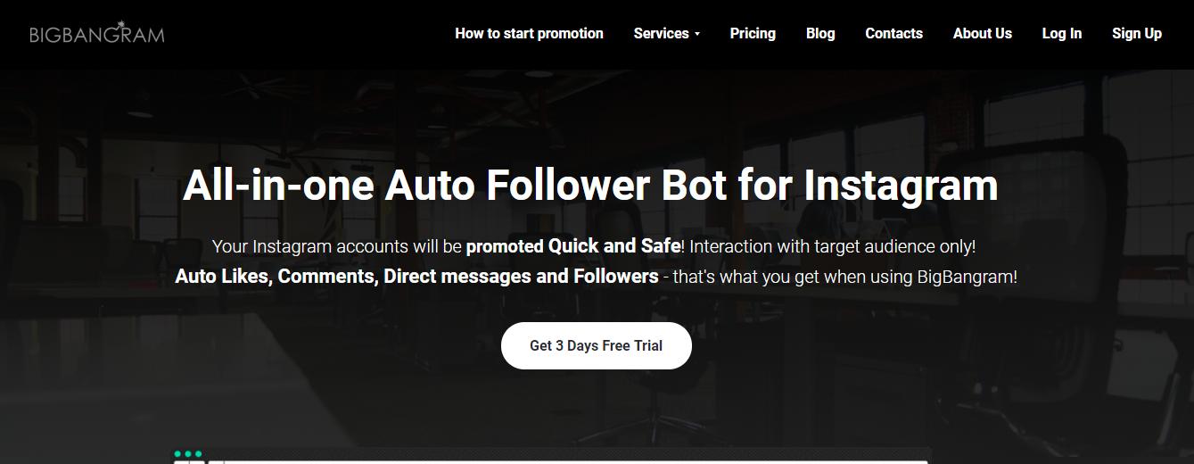 instagram automation tool Bigbangram