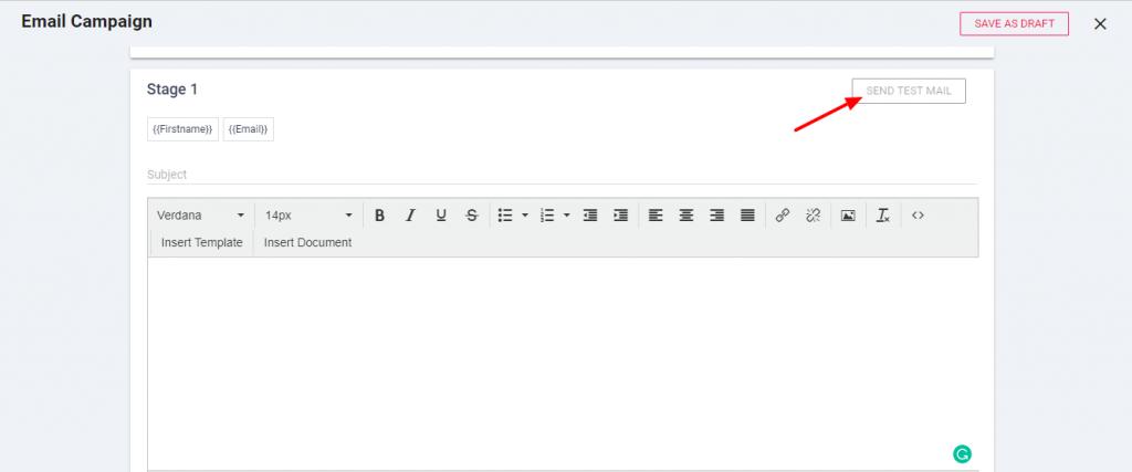 send test mail