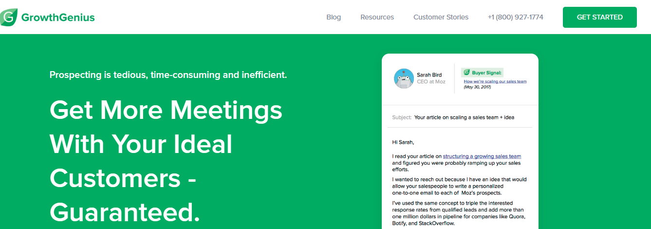 Growth genius: cold emailing tool