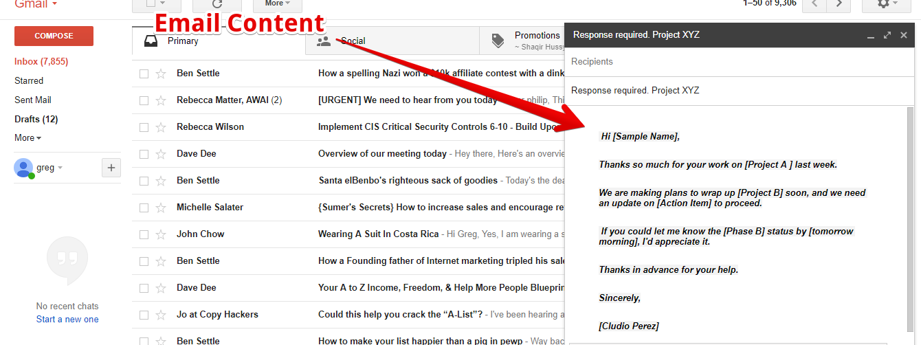 How to setup canned response in gmail 5