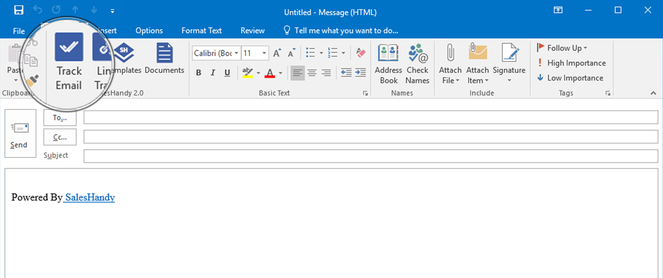 SalesHandy Email tracking for outlook