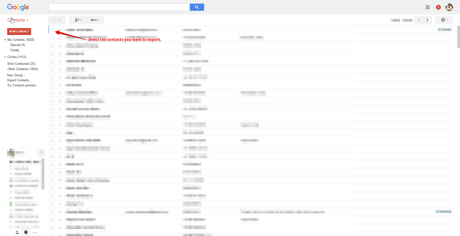 How to Export Contacts from Gmail (Explanation with Images)