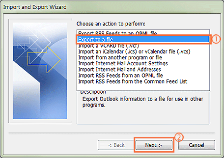 How to export contacts from outlook 2