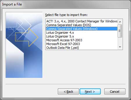 How to export contacts from outlook 9