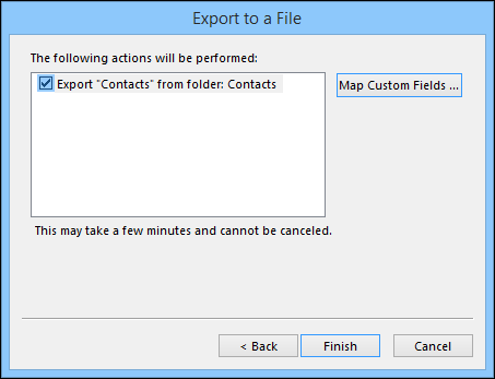 How to export contacts from outlook 11