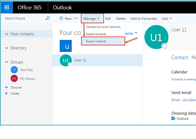 How to export contacts from outlook 52