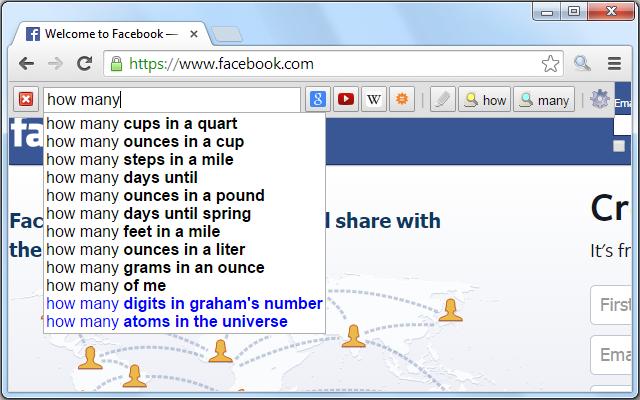 Searchbar chrome extension