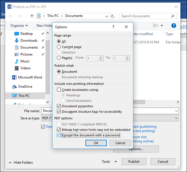 How to password protect a PDF in Windows