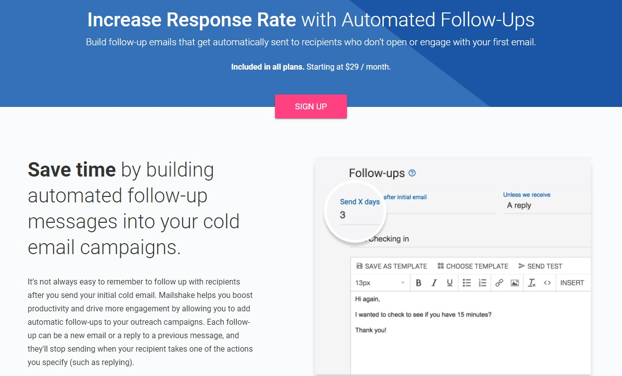 Email sequence software Mailshake