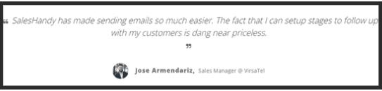 SalesHandy Customer Review